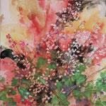 Purpurglöckchen (2013) - Leim auf Leinwand - 30 x 30 cm - [in privater Sammlung]