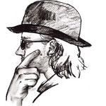 """Zeichnung """"Stara Bas 3"""" (2009) - Kohle auf Papier - 40 x 50 cm (verwendet für das Album """"Alkohol & andere Probleme"""""""") - [in privater Sammlung]"""