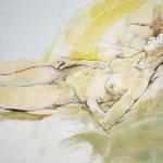 Weiblicher Akt (2013) - Leim auf Leinwand - 40 x 60 cm