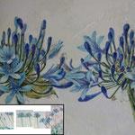 Abkühlung (2011) - Detailaufnahme - Leim auf Leinwand - 225 x 70 cm (6-teilig) -  [in privater Sammlung]