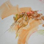 Hand (2013) - Leim auf Leinwand - 30 x 30 cm
