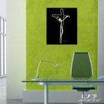 Crocifissi </br> Colore: nero - bianco </br> Codice: CR28-B | Misura: 50x60 cm