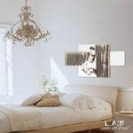 Quadro Shabby Chic </br> Colore: bianco - Inserti marrone shabby </br> Codice: SI-162 | Misura: 120x70 cm