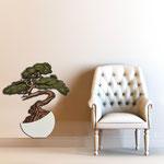Vasi </br> Colore: vaso bianco - decoro pianta marrone verde </br> Codice: SI-192-E | Misura: 73x83 cm