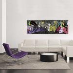 Quadri Paesaggi </br> Colore: nero - decoro multicolor </br>  Codice: SI-130   Misura: 180x60 cm