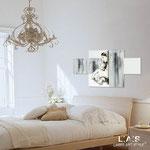 Quadro Shabby Chic </br> Colore: bianco - Inserti nero shabby </br> Codice: SI-162 | Misura: 120x70 cm
