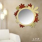 Specchiere </br> Colore: mattone - cammello/glitter oro </br> Codice: SI-206Q-SP | Misura: 93x87 cm
