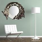 Specchiere </br> Colore: Panna - Marrone - decoro grigio marrone  </br> Codice: SI-223-SP | Misura: 130x110 cm