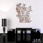 Quadri Floreali </br> Colore: cipria - bianco - decoro porpora violetto </br> Codice: SI-215 | Misura: 78x90 cm