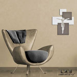 Crocifissi </br> Colore: bianco laccato - inserti grigio marrone </br> Codice: CR19 | Misura: 54x65 cm