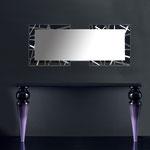 Specchiere </br> Colore: nero - con particolari in acciaio inox </br> Codice: SI-095-SPXL | Misura: 180x60 cm </br> Codice: SI-095-SP | Misura: 134x54 cm