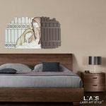 Quadri Sacri </br> Colore: panna - grigio marrone - decoro marrone </br> Codice: SI-157 | Misura: 120x75 cm