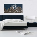 Quadri Floreali </br> Colore: decoro blu - bronzo </br> Codice: SI-163 | Misura: 180x90 cm