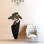 Vasi </br> Colore: vaso nero - decoro pianta marrone verde </br> Codice: SI-192-F | Misura: 73x135 cm