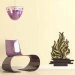 Vasi </br> Colore: vaso marrone - decoro pianta verdone bordeaux </br> Codice: SI-191-G | Misura: 63x86 cm