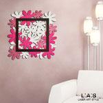 Orologi </br> Colore: rosa chiaro - fucsia - marrone/glitter rosa </br> Codice: SI-207 | Misura: 70x70 cm
