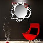 Specchiere </br> Colore: nero - bianco - rosso </br> Codice: SI-204Q-SP | Misura: 90x85 cm