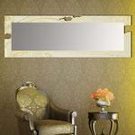 Specchiere </br> Colore: sabbia laccato - foglia oro </br> Codice: SI-092-SPXL | Misura: 180x60 cm </br> Codice: SI-092-SP | Misura: 134x54 cm