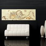 Quadri Paesaggi </br> Colore: sabbia - decoro marrone oro </br>  Codice: SI-129   Misura: 180x60 cm