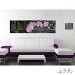 Quadri Floreali </br> Colore: nero - bianco shabby - decoro fiore rosa </br> Codice: SI-087-B | Misura: 152x52 cm </br> Codice: SI-087 | Misura: 152x42 cm