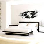 Quadri Sacri </br> Colore: bianco - applicazione nero </br> Codice: SI-160 | Misura: 160x60 cm
