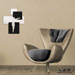 Crocifissi </br> Colore: bianco laccato - inserti nero </br> Codice: CR19 | Misura: 54x65 cm