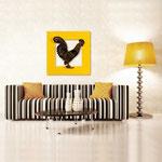 Quadri Paesaggi </br> Colore: giallo - applicazione marrone/con veri cristalli </br>  Codice: SI-128BQ   Misura: 90x90 cm