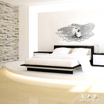 Quadri Sacri </br> Colore: bianco - applicazione argento </br> Codice: SI-160 | Misura: 160x60 cm