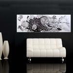 Quadri Paesaggi </br> Colore: bianco - decoro nero grigio </br>  Codice: SI-129   Misura: 180x60 cm