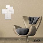 Crocifissi </br> Colore: bianco laccato - inserti bianco </br> Codice: CR19 | Misura: 54x65 cm