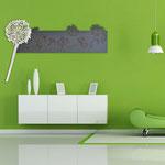 Quadri Floreali </br> Colore: antracite - bianco laccato </br> Codice: SI-170 | Misura: 180x60 cm (ingombro totale 200x118 cm)