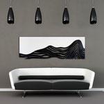 Quadri figurativi </br> Colore: bianco - nero </br> Codice: SI-178   Misura: 180x60 cm
