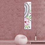 Quadri Floreali </br> Colore: bianco - decoro fiore rosso </br> Codice: SI-088-B | Misura: 152x52 cm </br> Codice: SI-088 | Misura: 152x42 cm