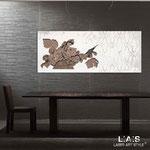 Quadri Floreali </br> Colore: cipria - bianco laccato - decoro bianco </br> Codice: SI-216 | Misura: 150x60 cm