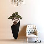Novità </br> Colore: vaso nero - decoro pianta marrone verde </br> Codice: SI-192-F | Misura: 73x135 cm