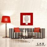 Quadri Paesaggi </br> Colore: rosso - applicazione bianco/con veri cristalli </br>  Codice: SI-128CQ   Misura: 90x90 cm </br>  Codice: SI-128CQ-S   Misura: 45x45 cm