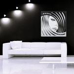 Quadri figurativi </br> Colore: bianco - grigio luce - nero / decoro grigio </br> Codice: SI-122   Misura: 90x90 cm  </br> Codice: SI-122M   Misura: 60x60 cm