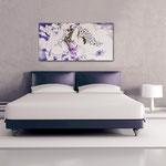 Quadri Sacri </br> Colore: rosa chiaro - decoro viola </br> Codice: SI-104 | Misura: 122x60 cm