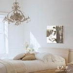 Quadro Shabby Chic </br> Colore: bianco - Inserti marrone shabby </br> Codice: SI-161 | Misura: 60x60 cm