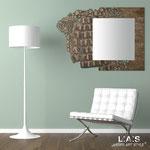 Specchiere </br> Colore: bianco - decoro marrone verde </br> Codice: SI-222-SP | Misura: 127x90 cm