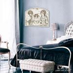 Quadri Sacri </br> Colore: bianco - decoro antracite argento </br> Codice: SI-231 | Misura: 40x30 cm