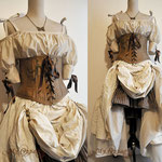 Commande My Oppa Steampunk pirate wedding dress underbust corset skirt order