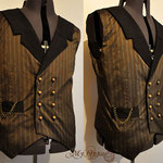 Commande My Oppa custom order Waistcoat men gilet steampunk wedding