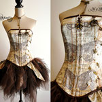 commande ensemble alice au pays des merveilles steampunk My Oppa sur mesure dress butterfly