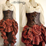 commande costume pirate steampunk My Oppa creation dress