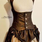 Commande steampunk My oppa gilet et jupe gallery corset