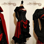 Commande Tenue rouge noire My Oppa  ensemble creation gothic fashion dress