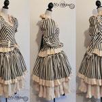 Commande My Oppa Steampunk striped dress