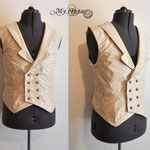 Commande steampunk gilet homme My Oppa sur mesure Waistcoat man wedding