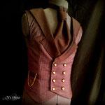 Commande My Oppa steampunk mariage Waistcoat